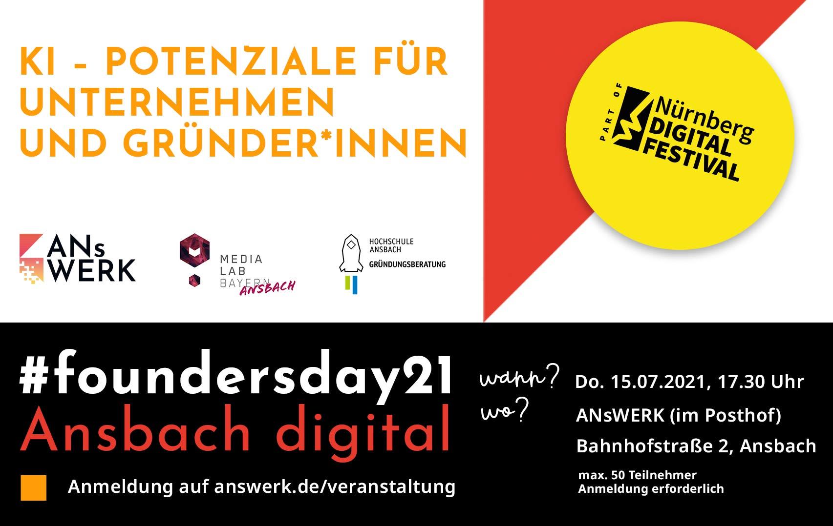 #foundersday21 in Ansbach ANsWERK für Gründer, Startups, Unternehmen und Experten