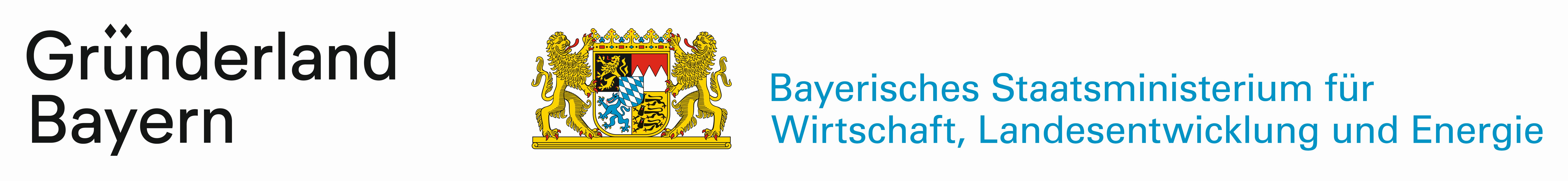 Gründerland Bayern, gefördert durch das Bayerisches Staatsministerium für Wirtschaft, Landentwicklung und Energie